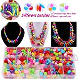 650pcs Colorful Acrylic Beads Crafts Jewelry Beads Set Accessories Toys Mixed Kids Beads for Children's DIY Bracelets Necklace Early Childhood Educational Toys (Style 1)