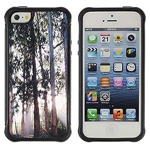 "Hypernova Defender Series TPU protection Cas Case Coque pour Apple iPhone SE / iPhone 5 / iPhone 5S [Árboles Magical Forest Light""]"