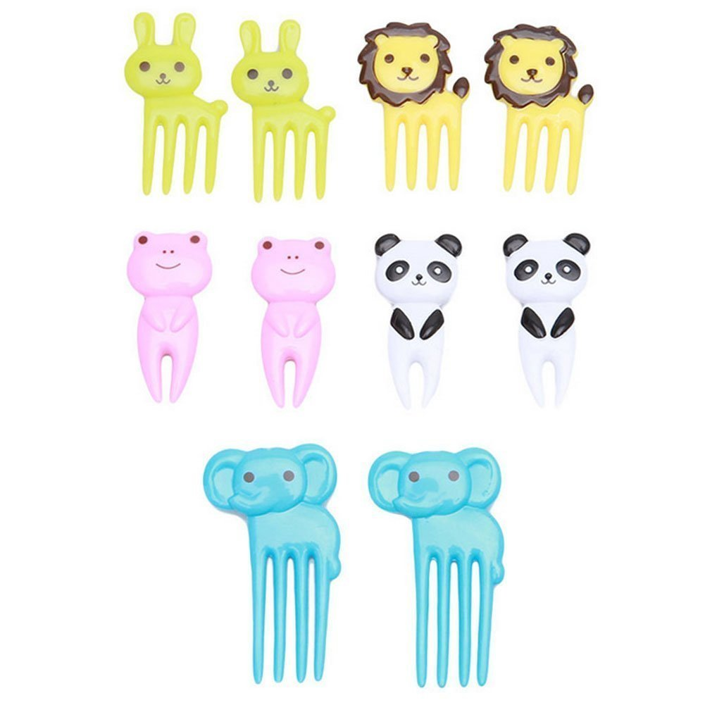 DierCosy Cute Animal Food Fruit Picks Forks Lunch Box Accessory Too,Box Decoration Animal Food Picks and Forks