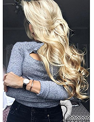 Price comparison product image Brazilian Human Hair Blonde Wig 150 Density The Best Selling Golden Full Lace Human Wigs Natural Loose Wave #613 Blonde Color Lace Front Wigs For Black Woman (18 Inch, Lace Front Wig)