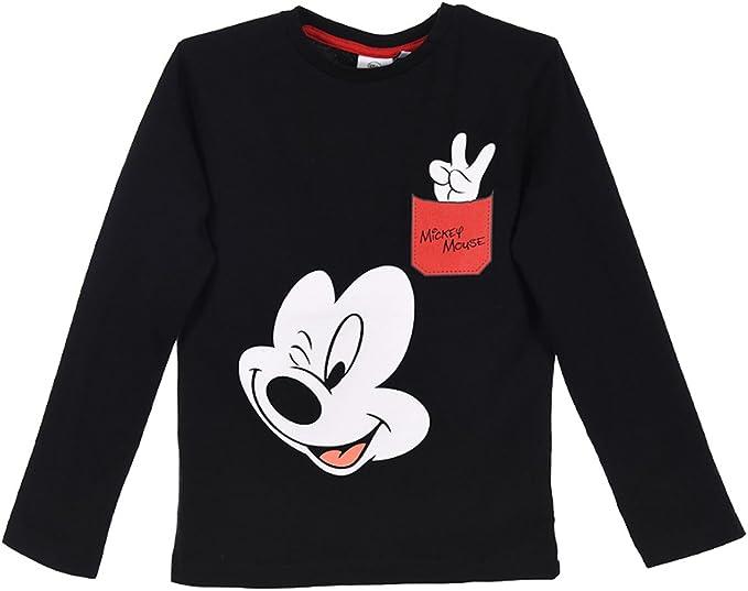 Mickey Mouse - Camiseta de manga larga - para niño negro 8 Años ...