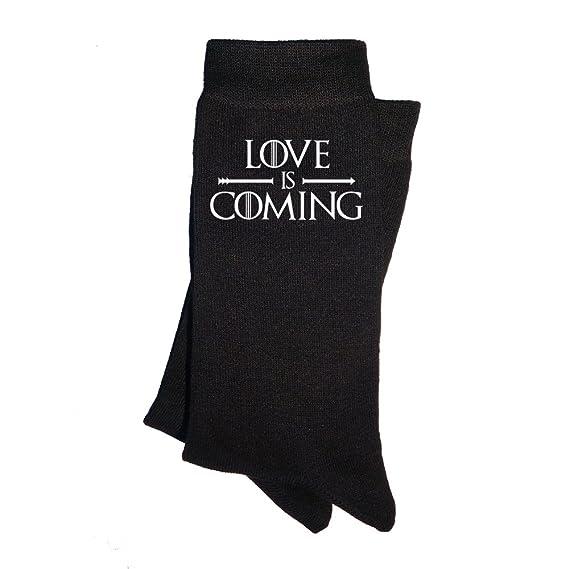 Calcetines de hombre Love is coming. Calcetines divertidos, con mensaje. Parodia Juego de tronos. Regalo enamorados San Valentín.: Amazon.es: Ropa y ...