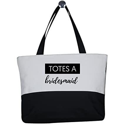 e023f1b0210119 Image Unavailable. Image not available for. Color  Mad2Order Totes a  Bridesmaid Large Canvas Two ...