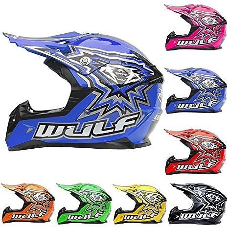 Wulfsport Casque de Moto de Motocross de Flite d'enfants Outre du vélo ECE2205 de Quad de Route Approuvé | Orange M (49-50cm) Touch Global Ltd