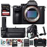 Sony Alpha a7RIII Digital Camera (Body) w/ Vertical Grip & 128GB SD Card Bundle