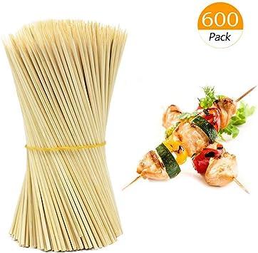 OUTANG Kebabspie/ße aus Holz Bambus BBQ Spie/ße Grillspie/ße Set Grillst/äbchen 600er Pack