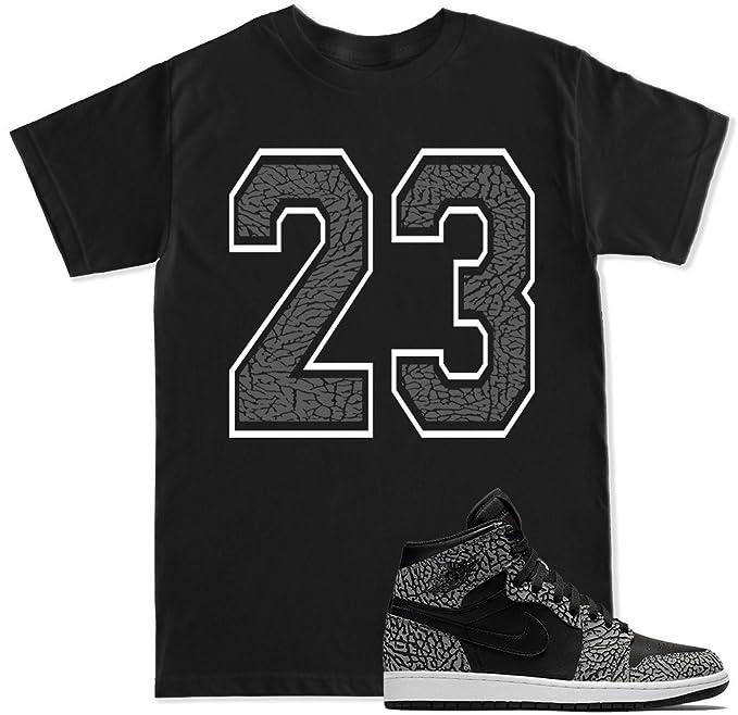 ba01e7ced7e70 Amazon.com  FTD Apparel Men s 23 Elephant Cement Print T Shirt  Clothing