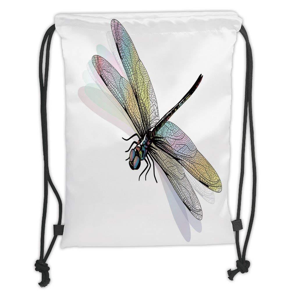 LULUZXOA Gym Bag Printed Drawstring Sack Backpacks Bags ...