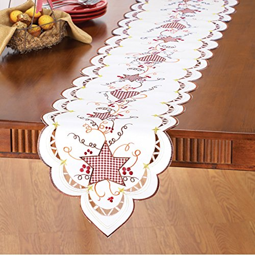 Country Hearts Stars Linens Runner