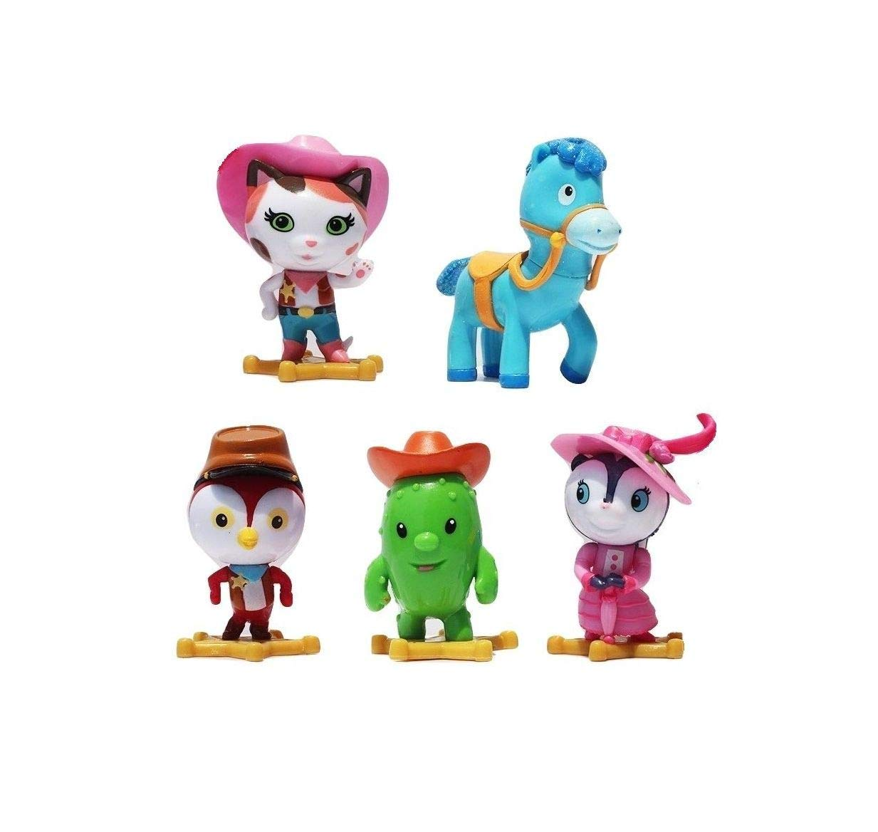 Love Gift Sheriff Kalie's Wild West 5 Figures Cake Topper Complete Toy Doll Quick Arrive