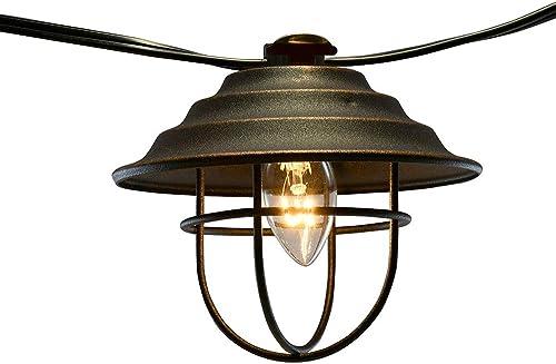 Lumabase 39301 Electric Bronze Metal Caf String 10 Lights