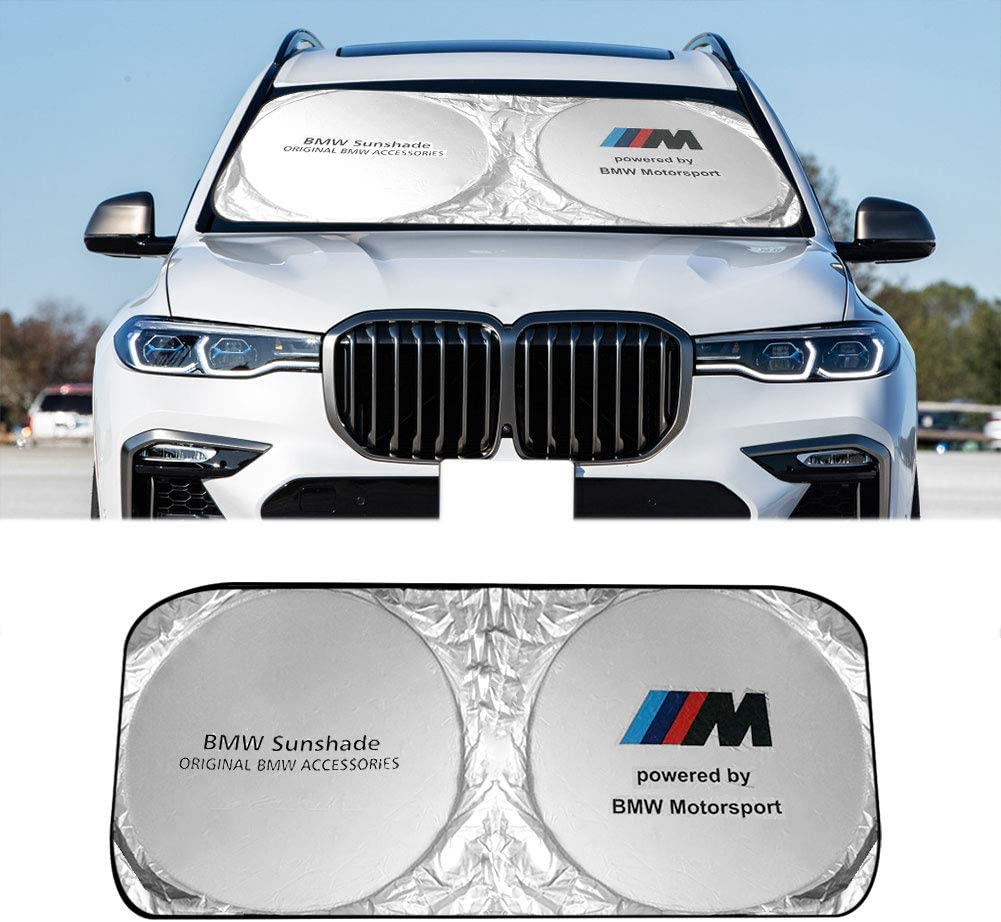 Naseya Car Window Shade for BMW Windshield Sun Shade,BMW Accessories,Windshield Cover Can Effective Shield Sunlight and Uv,Protect Car Accessories,Cars Sun Visor Apply to Car Windshield