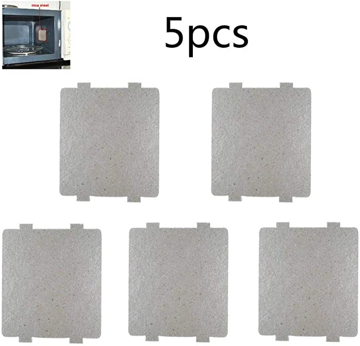 Svance 5 PCS Waveguide Cover, Universal Mica Sheet for All Microwave Oven, Cut to Size, 108mmX99mm, 5 Pack
