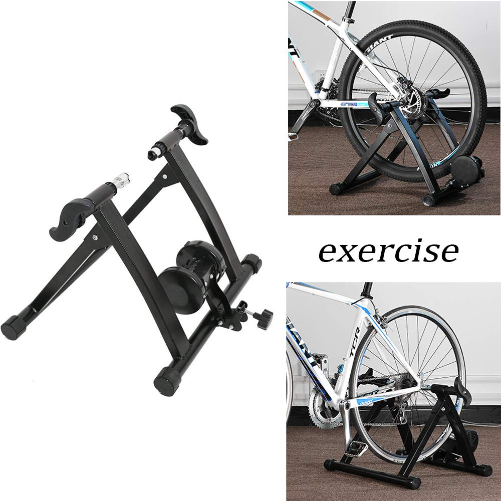 Karmas Product Exercise Resistance Bicycle Trainer Bike Magnetic Stand with Noise Reduction Wheel by Karmas Product (Image #2)