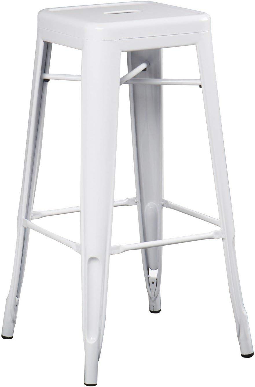 SKLUM Taburete Alto LIX Acero Blanco - (Elige Color)