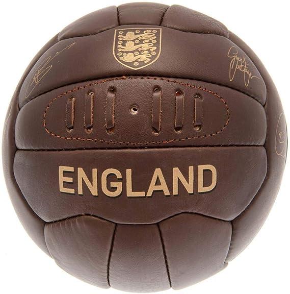 England F.A. Balón de fútbol Americano de Cuero marrón con diseño ...