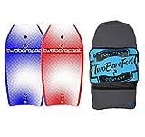 Two Bare Feet 42in Bodyboard Bundle - 2 x Halftone Bodyboards + Bag (Blue Red Blue)