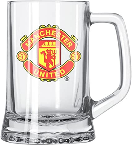 Manchester United FC Short Beer Mug GET Yours Today Features Manchester United FC Crest in Full Color Great for Any Man UTD Fan Official Manchester United Product