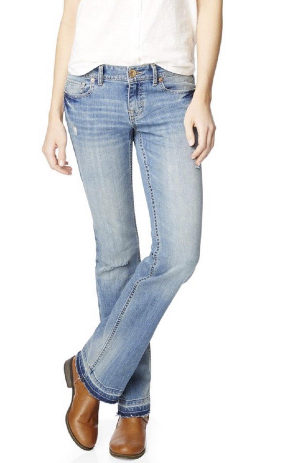 Aeropostale Womens Boot Cut Jeans 0 Regular by Aeropostale