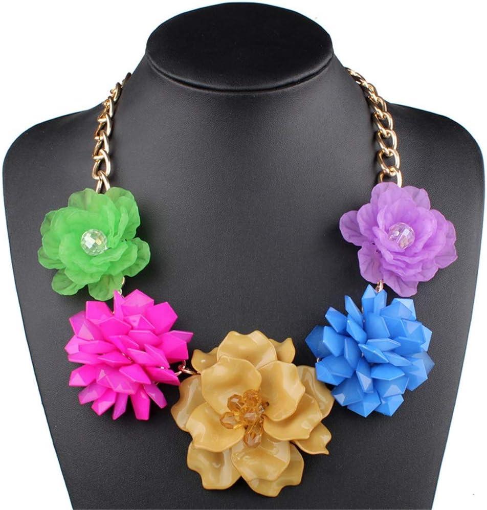 Regalo de Joyería Collar para Mujer, Encanto de moda hecho a mano 3D flor babero declaración suéter collar gargantilla collar bohemio vintage grueso regalo de joyería Gargantillas Joyería Joyas Regalo
