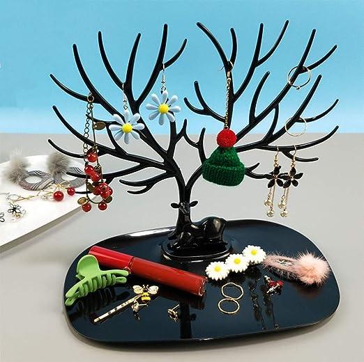 Amazon Com Hoocozi Jewelry Holder Stand Tree Jewelry Towers Hanging Jewelry Organizer Jewelry Hanger Rack Jewelry Tree Stand Organizer For Earring Ring Necklaces Bracelets Black Kitchen Dining