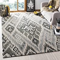 Safavieh Capri Collection CPR351A Handmade Multi and Grey Premium Wool Area Rug (3 x 5)
