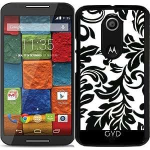 Funda para Motorola Moto X (Génération 2) - Modelo Blanco Y Negro by wamdesign