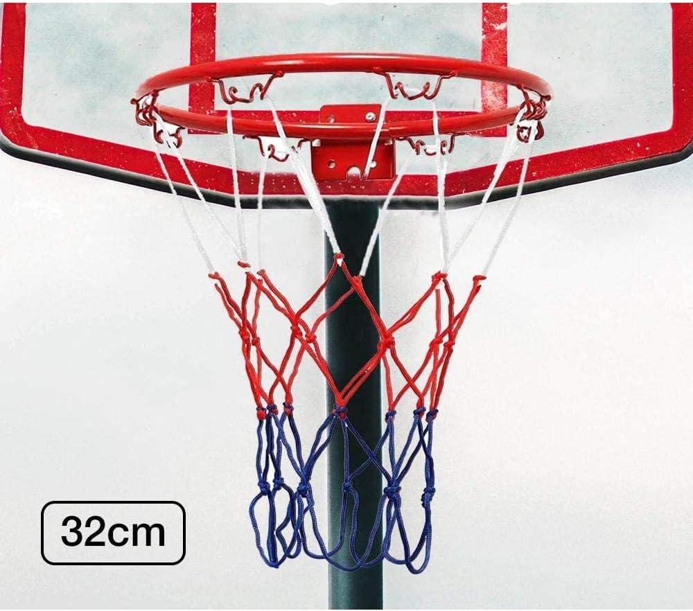 wyp216 Anello a Rete per canestro da Basket Attrezzature per Sport da Palestra per Bambini e Adulti Allenamento per Interni ed Esterni Giardino Dimensioni 32 cm Cesto sospeso a Parete
