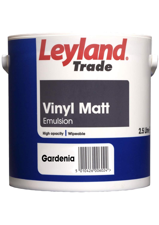 Leyland Trade 264802 Vinyl Matt, Brilliant White, 2.5 PPG