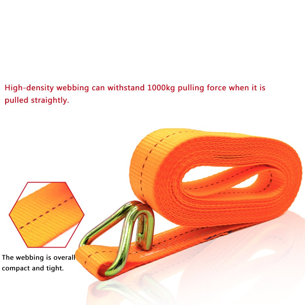 PER Fastener Strap 2.5Cm Width 1700Lb With Reinforced Stainless Steel Buckles Tie-Down Straps Belt Band For Cargo Luggage Camping Trucks Trailers