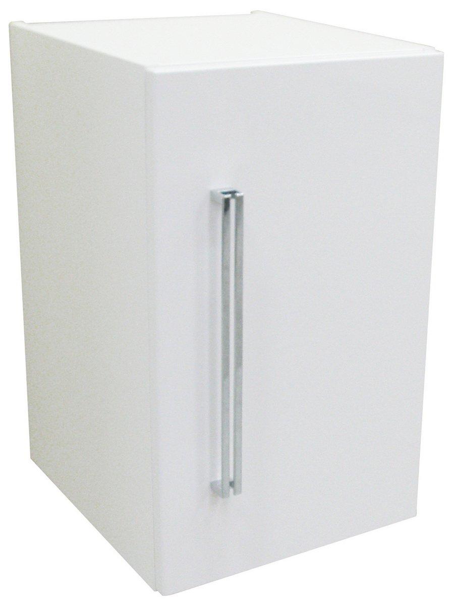 FACKELMANN Unterbauschrank Soft-Close-System Lugano Badschrank mit Soft-Close-System Unterbauschrank Maße (B x H x T)  ca. 35 x 59 x 39 cm Hochwertiger Schrank fürs Bad Türanschlag rechts Korpus  Weiß Front  Weiß Breite 35 cm c80f14