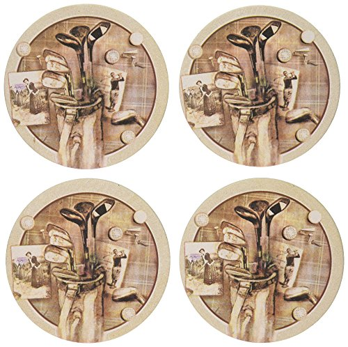 (Thirstystone Stoneware Golf Treasures Coaster, Multicolor)