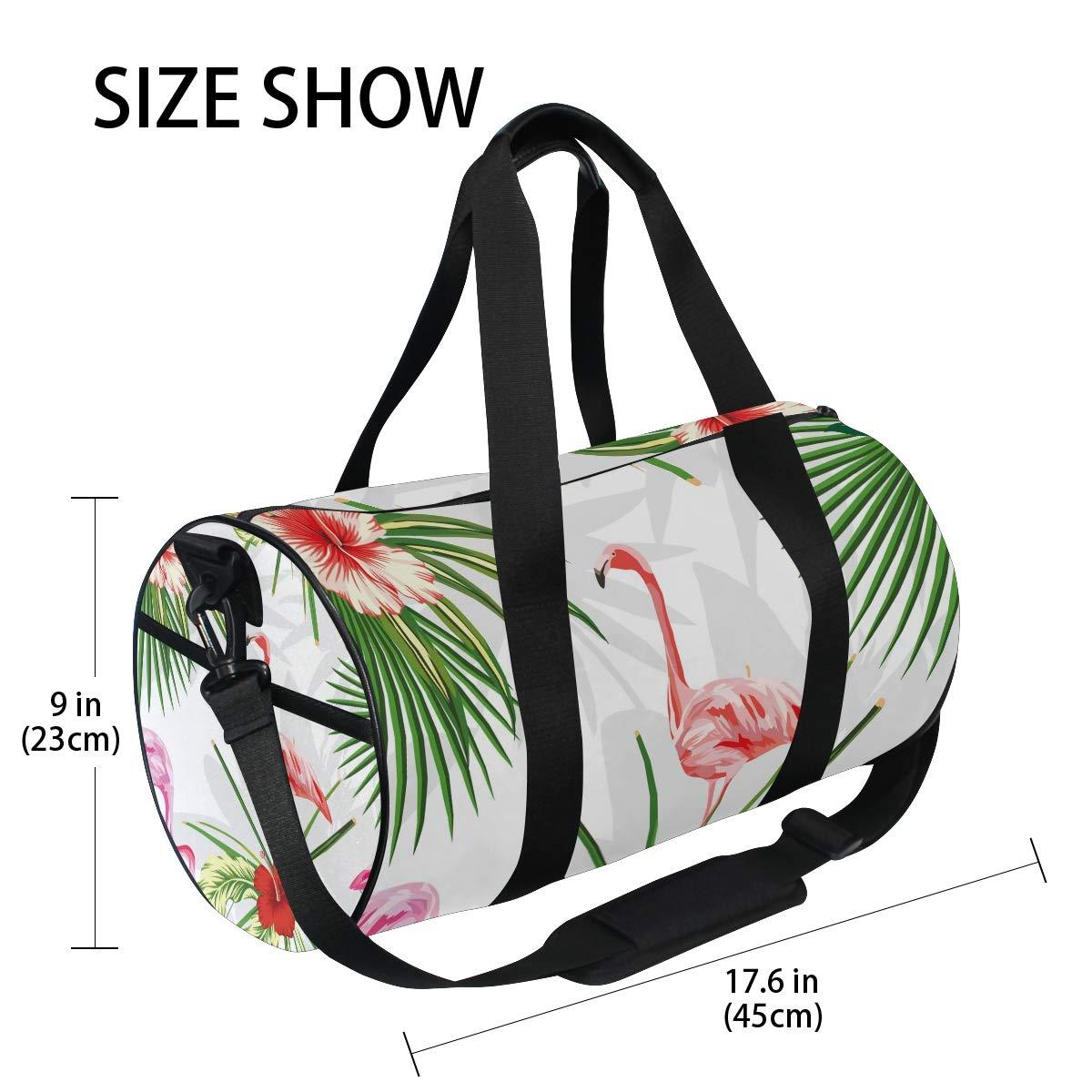 Flamingo Sports Gym Bag Travel Duffel Bag with Pockets Luggage & Travel Gear Shoulder Strap Fitness Bag by EVERUI (Image #4)