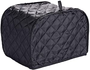 Chris.W 4-Slice Toaster Cover Bread Toaster Appliance Dust-proof Cover, Fits Most Standard 4 Slice Toasters, Machine Washable, Black