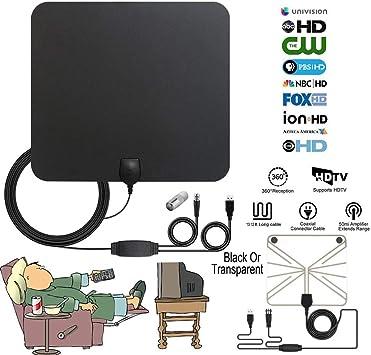 BangHaa Antena HDTV HD más nuevo antena de TV digital Versión Profesional 65-120 Miles techo