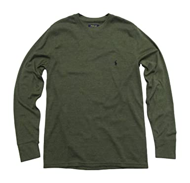 Polo Ralph Lauren Men s Big   Tall Thermal Shirt Long Sleeve Soft Light  (Olive  206823a4040c5