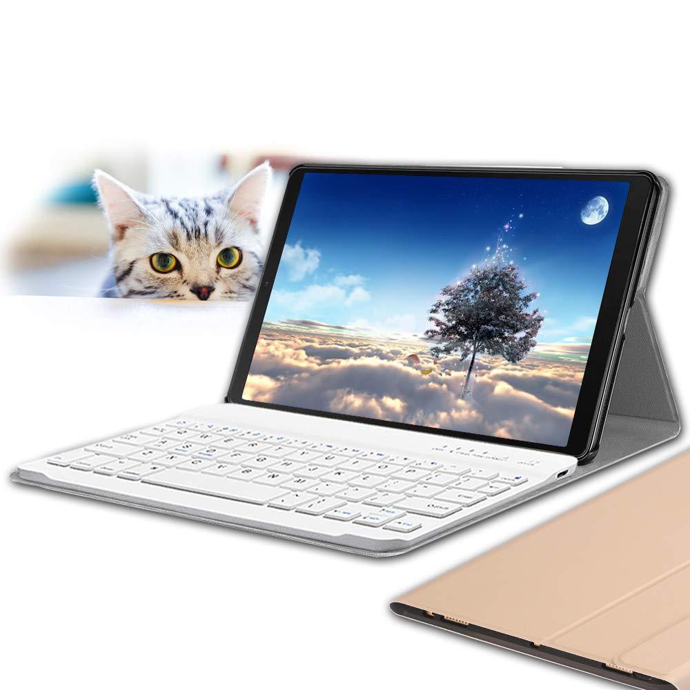 Galaxy/Tab S5e 10.5 Keyboard Case T725 2019 Galaxy Tab S5e 10.5, Black Wineecy PU Leather with Detachable Bluetooth Wireless Keyboard for Samsung Galaxy Tab S5e 10.5 SM-T720