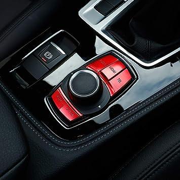 Auto Multimedia Knopf Abdeckung Knopf Rahmen Dekoration Trim Für 1 2 3 Serie F30 Gt F34 4er F32 F33 F36 X1 F48 X3 F25 Rot Auto