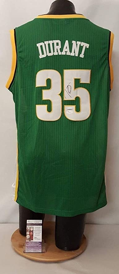 wholesale dealer f39f5 dd3f3 Kevin Durant Autographed Signed Seattle Sonics Green ...