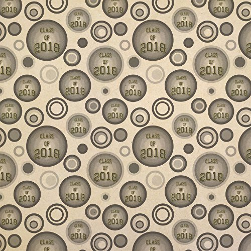 Class of 2018 Graduation Kraft Present Gift Wrap Wrapping Paper