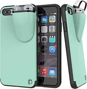 """Punkcase iPhone 8 Plus Airpods Case Holder (TopPods Series) 