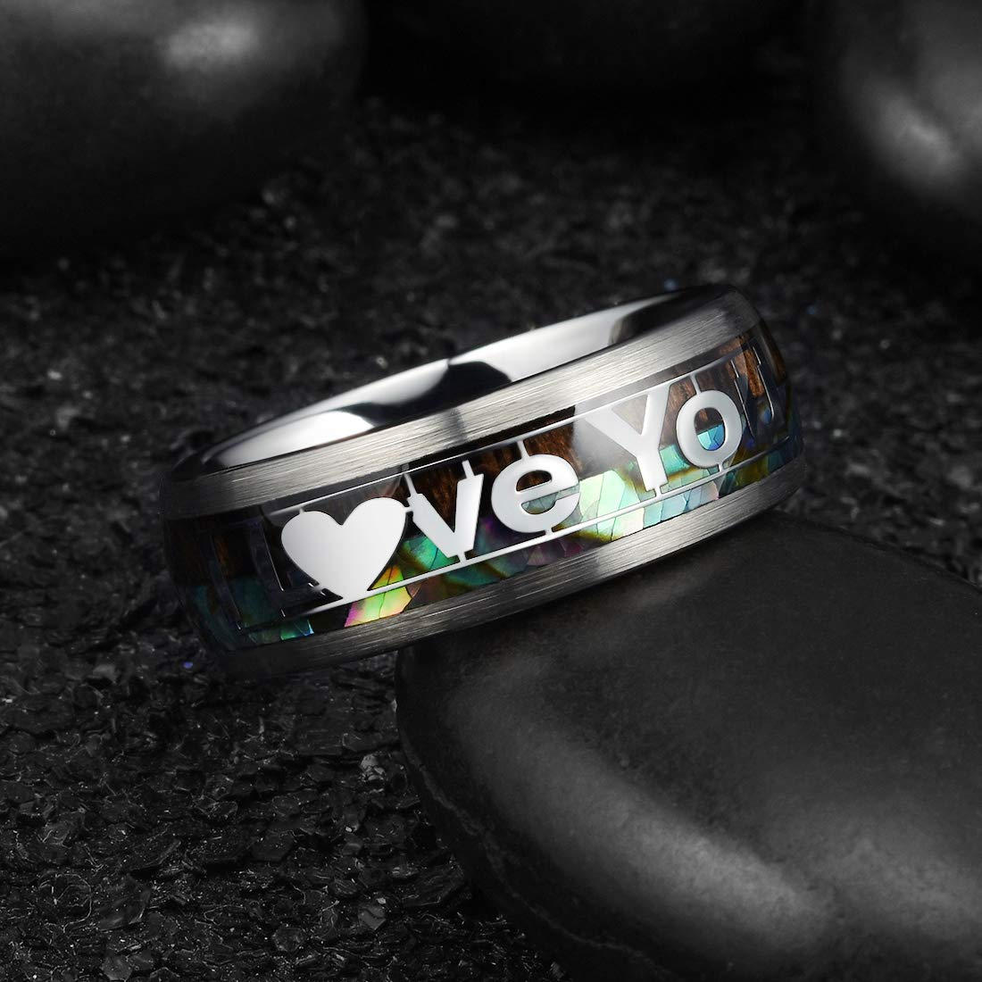 King Will Mens Tungsten Carbide Wedding Ring Classic Engagement Band for Men Women