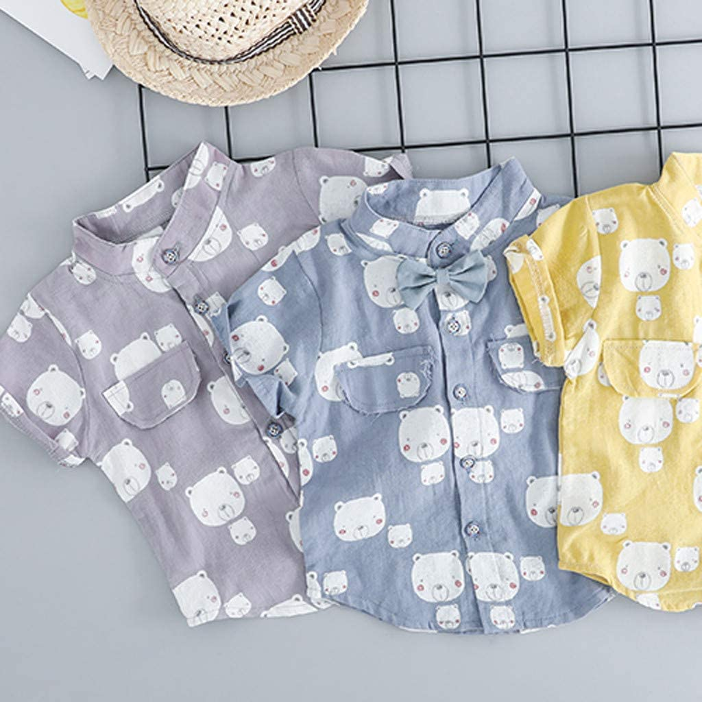 Baby Boys Bow Gentleman Romper Jumpsuit Overalls Rompers 2 Piece T-Shirt Suspender Shorts Clothing Set Tracksuit