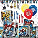 Deluxe Transformers Childrens Birthday Party Pack Decoration Kit For 16