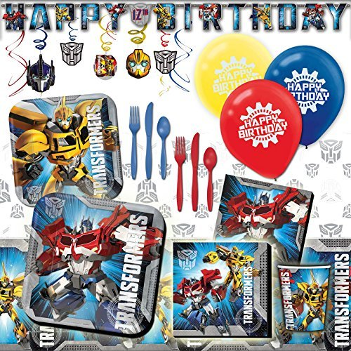 Deluxe Transformers Childrens Birthday Party Pack Decoration Kit For 16]()