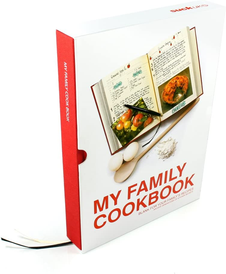 Suck UK My Family Recipe Book and Cooking Journal - Blank for Storing / Recording Your Own Recipes