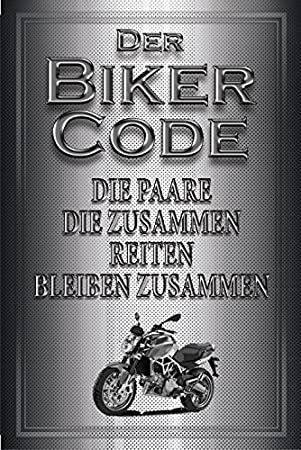 """Blechschild /""""/""""Dont worry be happy/""""/"""" Frau Motorrad schild aus blech tattoo"""