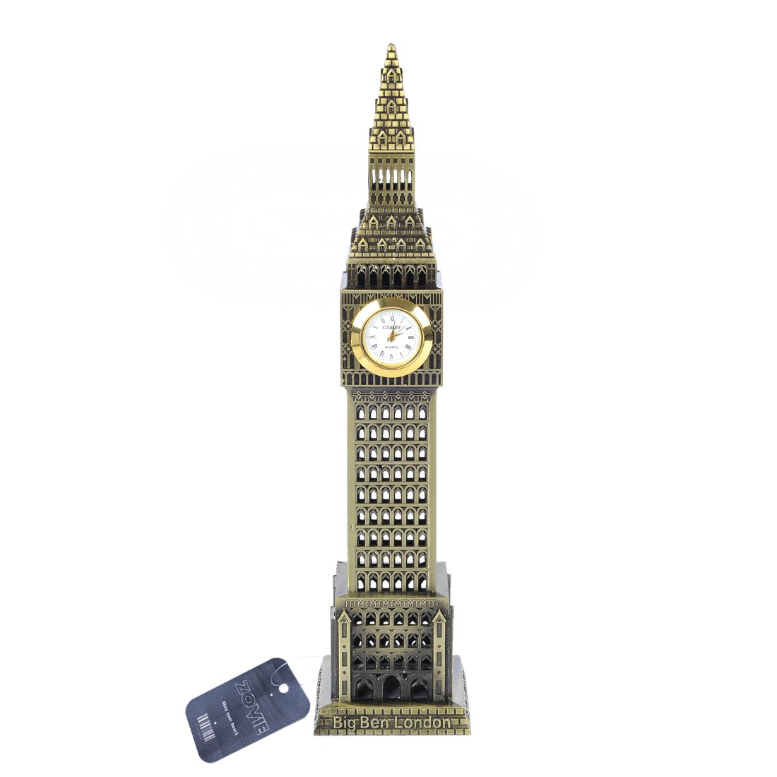 Zovie Big Ben Statue London Landmarks Glorious Home Decoration Make of Pure Copper (Real Clock Big Ben Bronze)