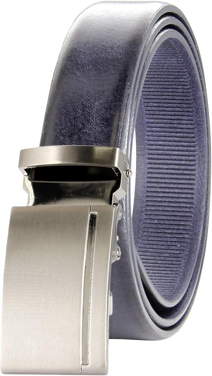 Lindenmann - Cinturón de piel para hombre, color azul