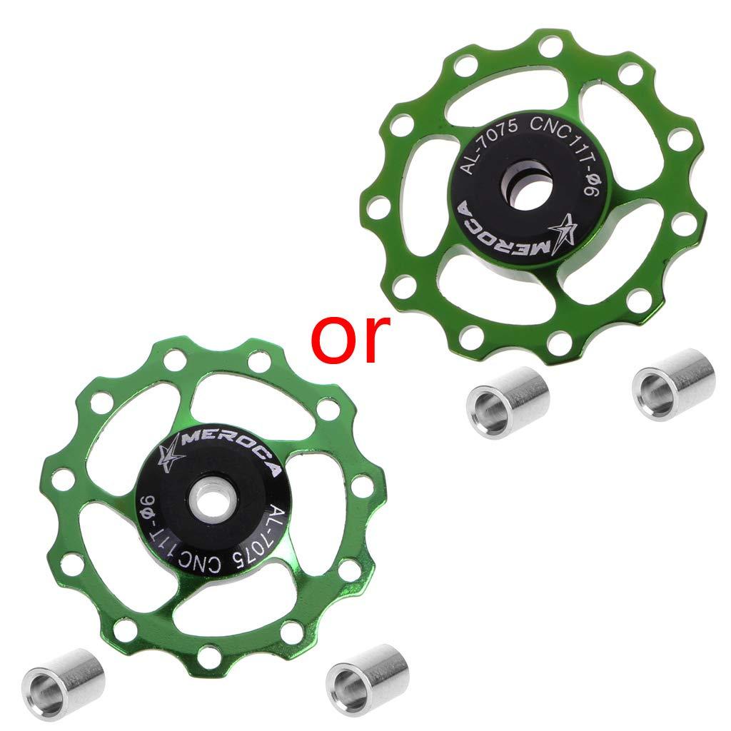 jiulonerst Jockey 4 Couleurs en Option 11 T roulement en Aluminium Roue de VTT en Alliage pour d/érailleur arri/ère m Rouge